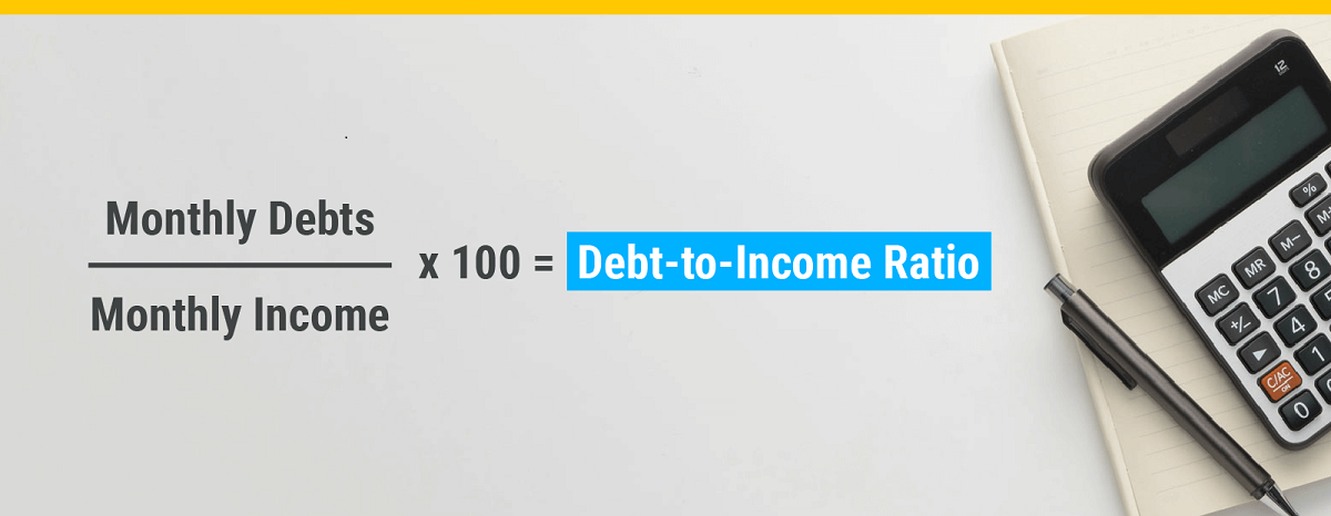 debt-to-income ratio calculation infographic